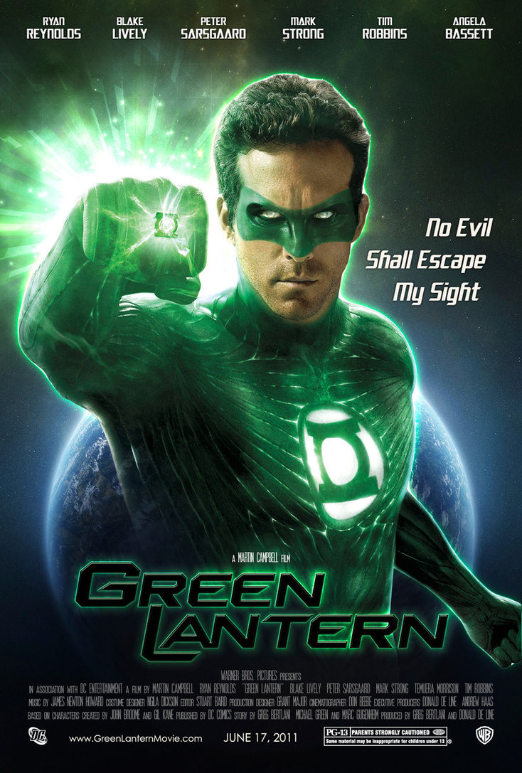 Green Lantern (2011) Review – Views from the Sofa Green Lantern Movie Poster