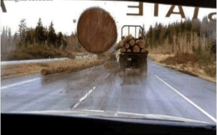 Image result for final destination log truck