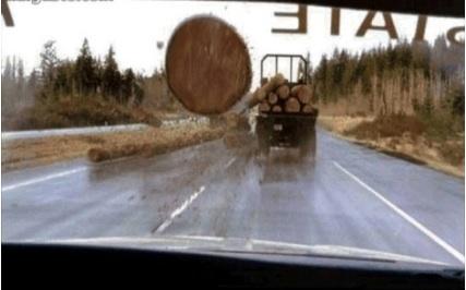 Image result for final destination log truck